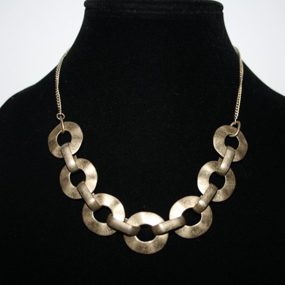 Beautiful brushed gold necklace 14-16""